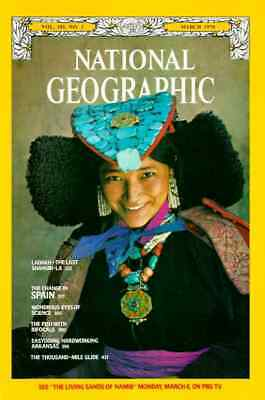 Nat Geo MAR 1978 SPAIN EYES SCIENCE ARKANSAS LADAKH SHANGRI LA 1000 MILE GLIDE