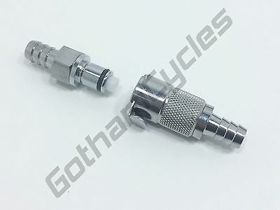 """ATV 3/8"""" Gas Petrol Fuel In-Line Hose Metal Quick Release Coupling Connect"""