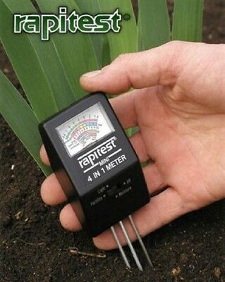 Soil Tester Rapitest: 4 In 1 Mini pH Light NPL #1818