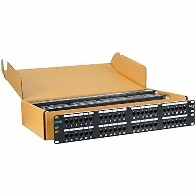 Icc Icmpp4860V Patch Panel, Cat 6, 48-Port, 2 Rms, 6 Pk