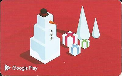 Christmas Google Play Mint Gift Card From Canada Bilingual No Cash Value