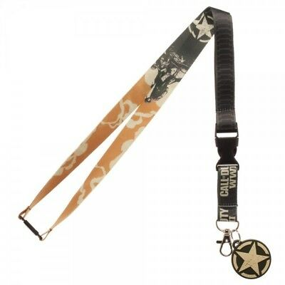Call Of Duty WWII Video Game ID Badge Holder Keychain Lanyard