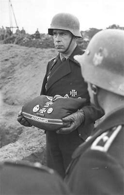 WWII B&W Photo German Soldiers Afrika Korps Burial Ceremony WW2 World War / 2164