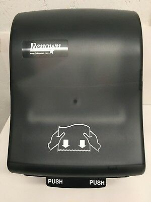 Renown 05158 Paper Towel Roll Dispenser I-Notch Mechanical Black Translucent Nib