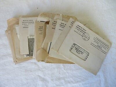 Vintage Hand Written Letters WWII V-Mail October 1943 - May 1945 Lot of 40 #6353