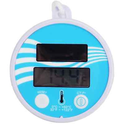 "5.5"" Solar Powered Floating Digital Swimming Pool/Spa Thermometer with Cord -"