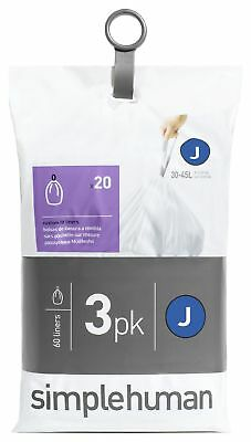 simplehuman Bin Liner Code J 3 x 20 Pack 60 Liners -From the Argos Shop on ebay