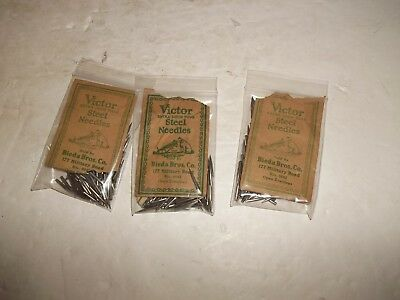 3 Packs Vintage Rca Victor Extra Loud Tone Phonograph Steel Needles - Uncounted