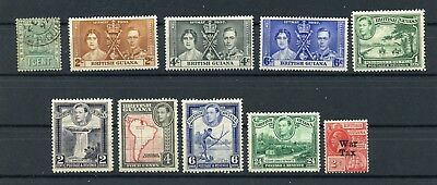 BRITISH GUIANA--Lot of 10 different stamps