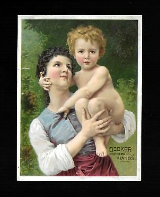 Mother Holds Her Beautiful Child-1880s Victorian Trade Card