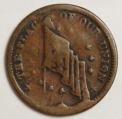 """Hard Times Token.  """"Shoot him on the spot"""".  Circulated.  124226"""
