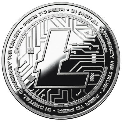 Litecoin Crypto Icon Proof Coin 1 Oz .999 Silver Commemorative Bitcoin 3000 Mint