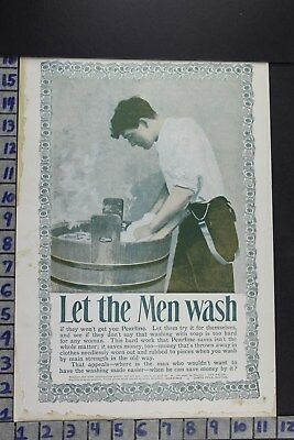1896 Household Washing Pearline Detergent Soap Laundry Room Vintage Ad Ec090