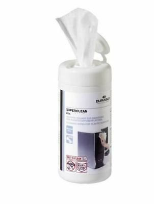 Durable  Superclean Plastic Surface Wipes 570802 (100 Wipes)