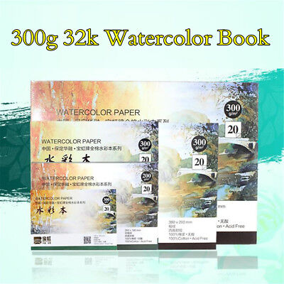 300g 32k Professional Watercolor Paper Pad 20 Sheets Hand Painted Drawing Books