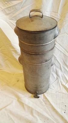 Vintage Galvanized Honey Settling Tank