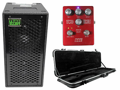 "Trace Elliot ELF 2x8 Dual 8"" Bass Guitar Speaker Cabinet+Guitar Case+Stomp Box"