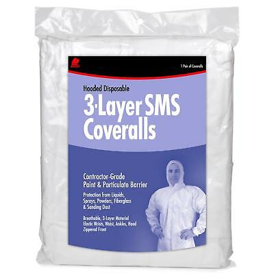 Buffalo 68523 Hooded Disposable 3-Layer SMS Coveralls