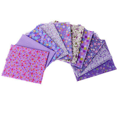 10pcs Purple Quilting Fabric Cotton Cloth Craft Sewing Accessories 40x50cm