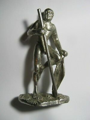 Small Vintage Australian Metal Sculpture Of A Fisherman  . Dr