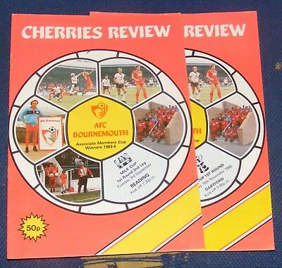 Afc Bournemouth Home Programmes 1985-1986