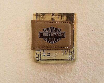 harely davidson leather money clip
