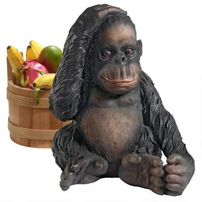 Curly The Chimpanzee Of The Jungle Funny African Monkey Design Toscano Statue