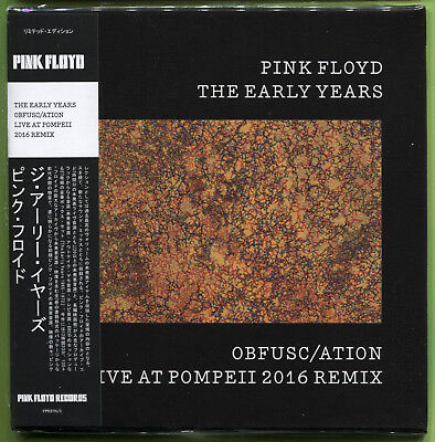 Pink Floyd THE EARLY YEARS. OBFUSC/ATION LIVE AT POMPEII 2016 CD mini-LP Sealed