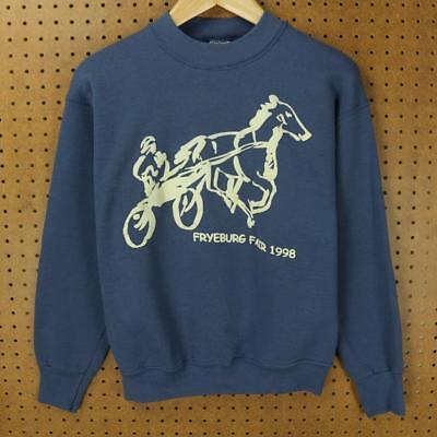 vtg 1998 FRYEBURG FAIR sweatshirt MEDIUM tag 90's MAINE me boxy