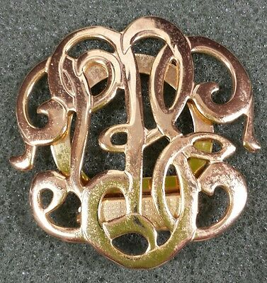 Jewelry Scarf Clip Brooch Gold Tone Classic Style Beautiful Christmas Gift #659