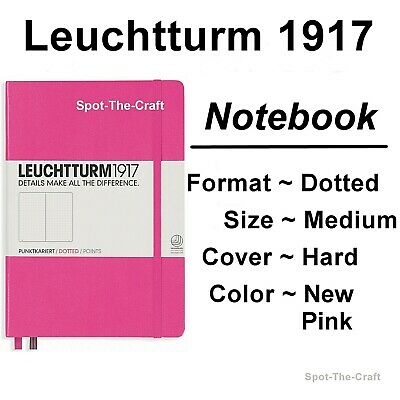 Leuchtturm1917 Dotted Journal Notebook Medium A5 New Pink 348111