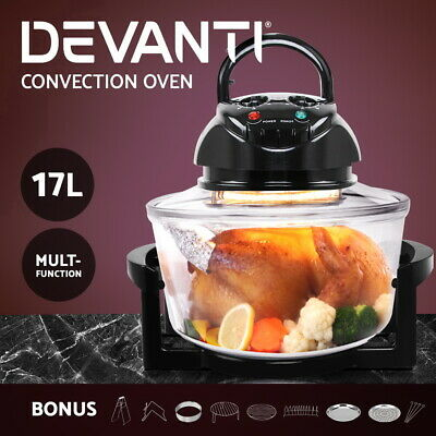 Devanti 2400W Electric Ceramic Tower Fan Heater Portable Oscillating Remote BK
