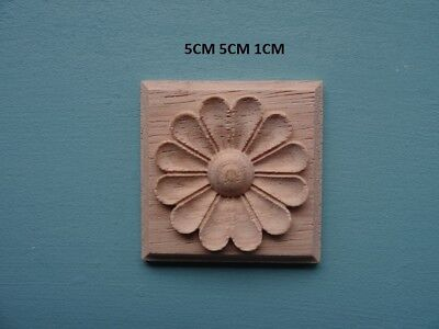 Decorative wooden appliques flower tile furniture mouldings B08M