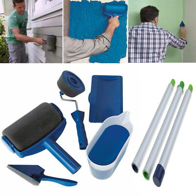 Pro Wall Painting Roller Runner Room Handle Flocked Edger Paint Brush with Pole