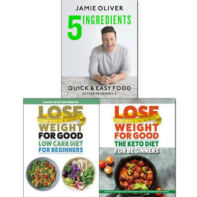 Quick & Easy Food 5 Ingredients Jamie Oliver Cooking 3 Books Collection Set NEW