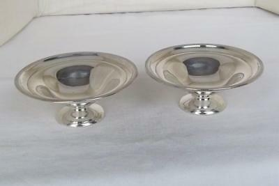 A Superb Antique Pair Of Solid Silver Edwardian Bon Bon Dishes Sheffield 1906-07