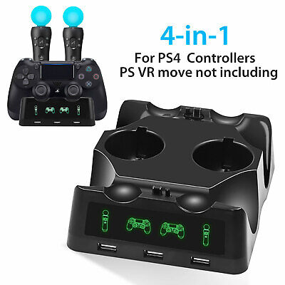 For PS4 Controller Charger Station Dual Shock 3 USB Charging Dock Station Base