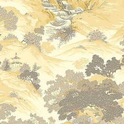 Archives Oriental Landscape Wallpaper Yellow - Crown M1192 China New