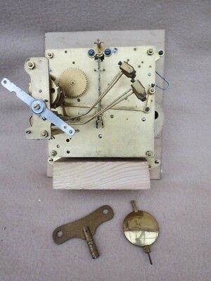Vintage Gustav Becker Westminster Chime Bracket/mantel Clock Movement Spares/rep