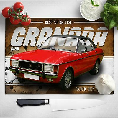 Personalised Ford Granada Ghia Chopping Board Worktop Saver Car Gift CL17