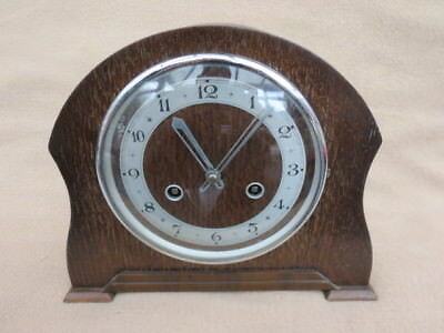 Vintage Perivale Striking 8 Day Mantel Clock For Tlc