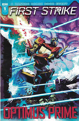 First Strike Optimus Prime #1 LCSD 2017 Variant IDW Comic Book Hasbro NM