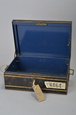 Victorian Japanned Painted Steel Dispatch Box / Deed Case. Ref FXN