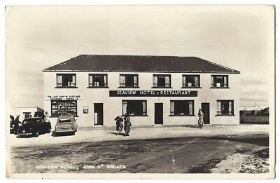 JOHN O GROATS Seaview Hotel, RP Postcard by Valentine, Unused