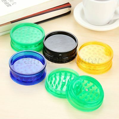 5pcs 60x25mm Portable Plastic Grinder Herb Spice Tobacco Crusher Magnet 2 Layer