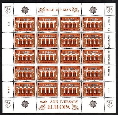 1984 ISLE OF MAN Europa 25th Anniversary set of sheets - unmounted mint