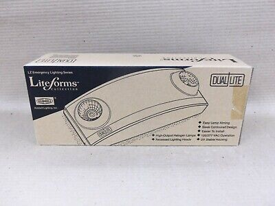 New in Box LiteForms LZ2 White Emergency Light White