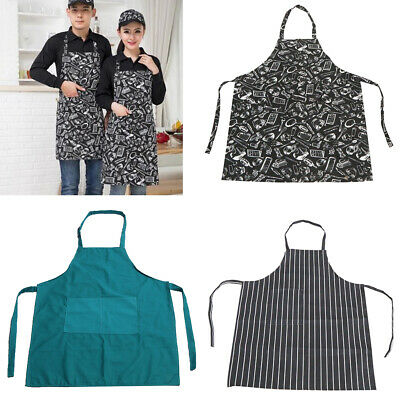 Cooking Apron BBQ Party Apron Men Women Antifouling Chef Apron with Pocket