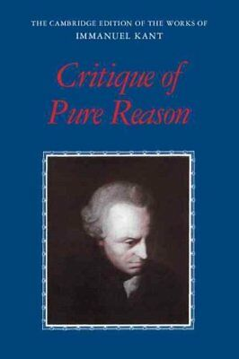 Critique of Pure Reason by Immanuel Kant 9780521657297 (Paperback, 1999)