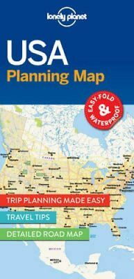 USA Planning Map by Lonely Planet 9781786579096 (Sheet map, folded, 2017)